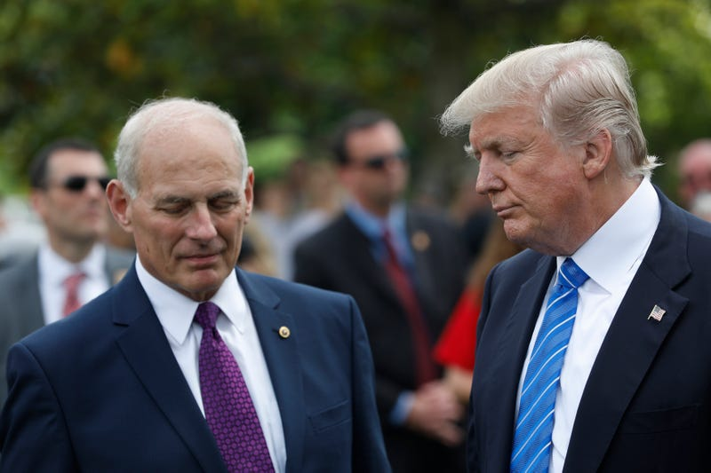 Chief of staff John Kelly and President Donald Trump (Aaron P. Bernstein/Getty Images)