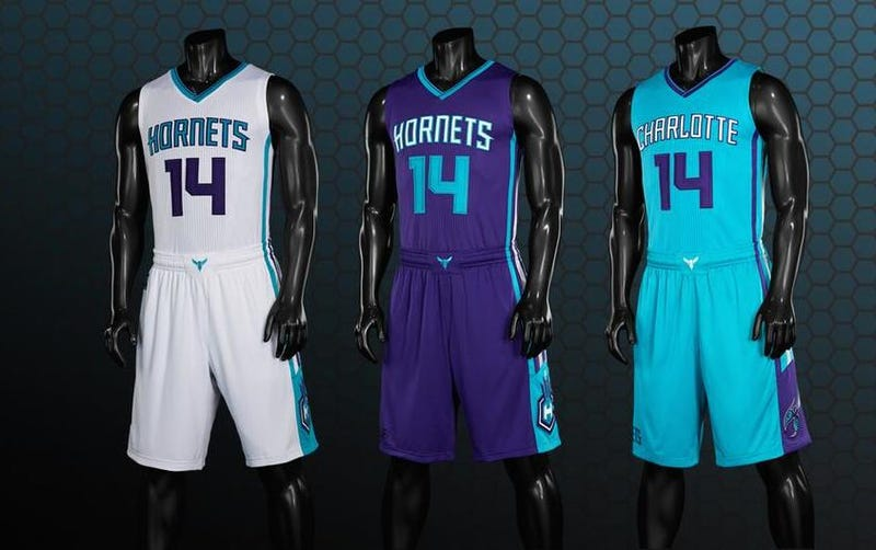 Illustration for article titled Charlotte Hornets Unveil New Uniforms