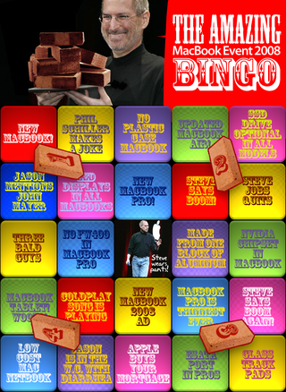 Illustration for article titled New MacBook 2008 Event Bingo: Play and Win Free Pizza