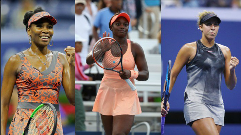 Venus Williams; Sloane Stephens; Madison Keys (@rantoddj via Twitter screenshot)