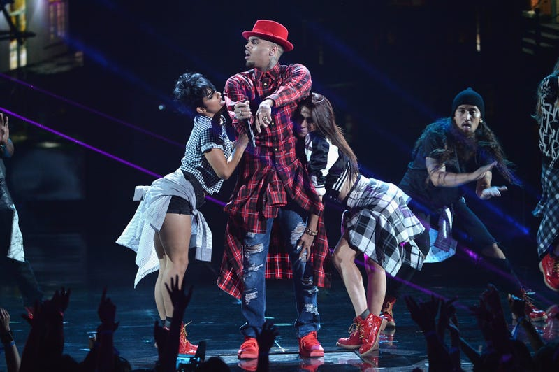 Singer Chris Brown performs during the BET Awards at Nokia Theatre L.A. Live on June 29, 2014, in Los Angeles.  Kevin Winter/Getty Images for BET