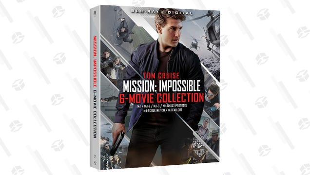 Have An Action-Packed Movie Night With The $33 Mission: Impossible 6-Movie Collection