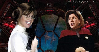 Illustration for article titled Sarah Palin = Star Wars, Hillary Clinton = Star Trek