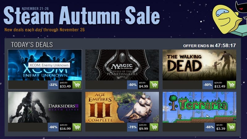 Illustration for article titled Steam's Autumn Sale Has Begun