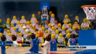 Illustration for article titled Watch The Five Greatest NBA Finals Moments, As Performed By Legos