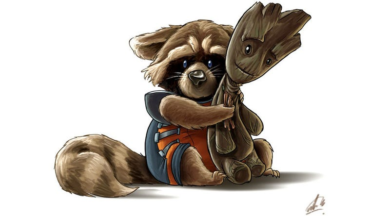 need more rocket and groot here s a ton of fan art to warm your heart
