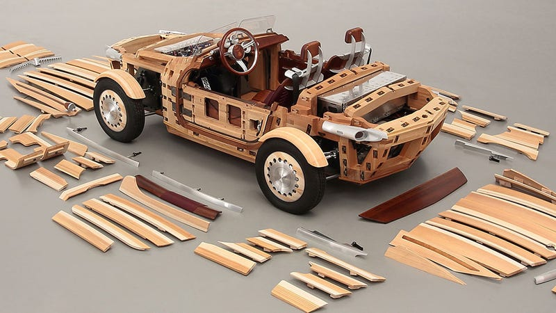Toyota's Wooden Concept Car Is Lovely And Designed To Age