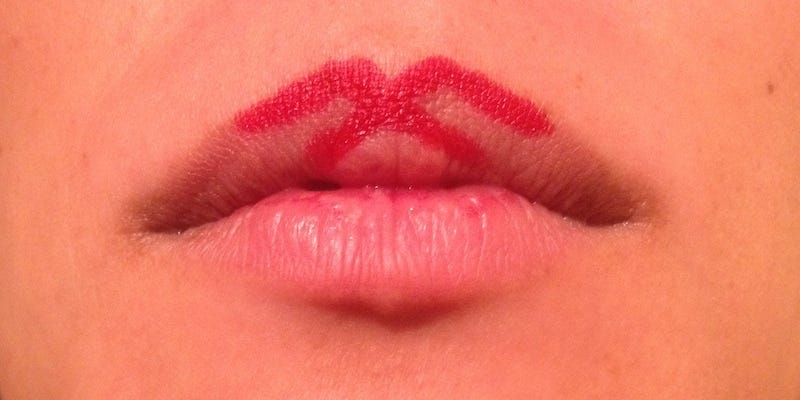 """Illustration for article titled Start with an """"X"""" With Your Lipstick for That Perfect Lip Shape"""