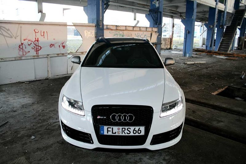 """Illustration for article titled German Tuning Shop Names Custom Audi RS6 """"WHITE POWER"""""""