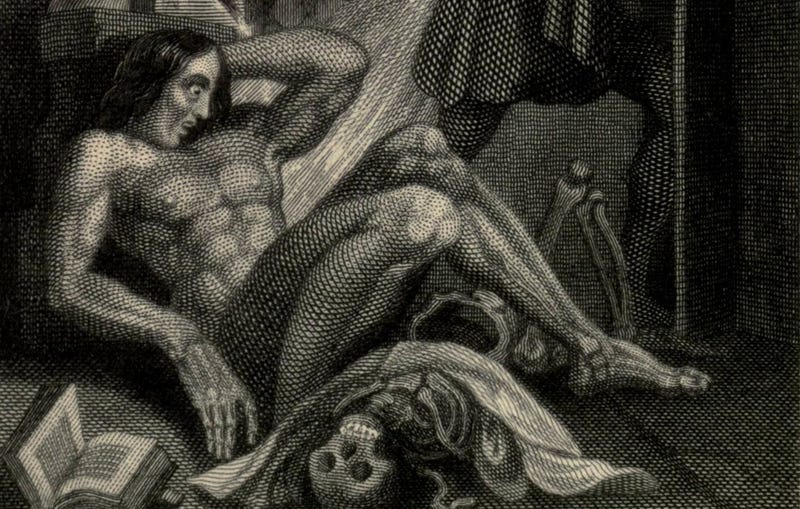 Illustration for article titled See The Earliest Illustration of Shelley's Frankenstein For Yourself