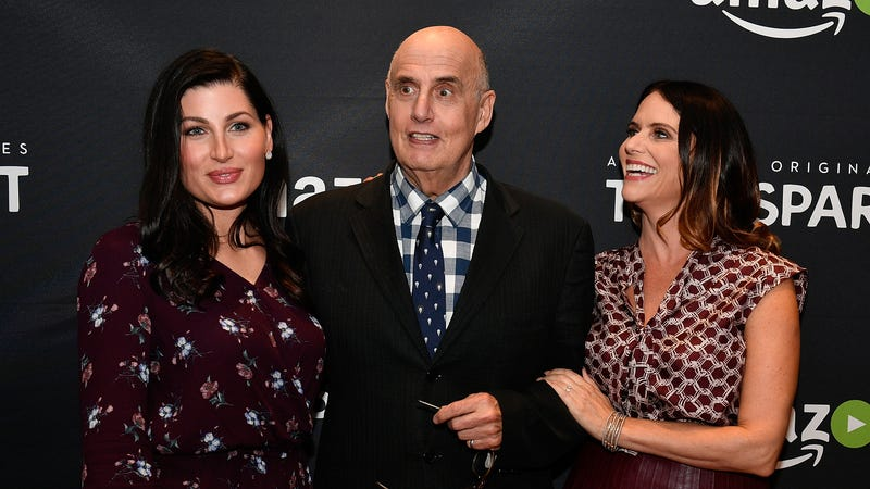 From left: Trace Lysette, Jeffrey Tambor, and Amy Landecker. Image via Getty.