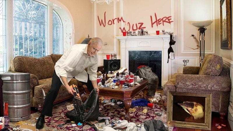 "Biden ""hauls serious ass"" while straightening up the vice presidential residence shortly before the incoming occupants arrive."