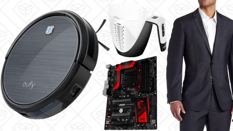 Illustration for article titled Las mejores ofertas del día: $30 de descuento en robot limpiador, trajes para hombre, Gold Box en accesorios de PC y más