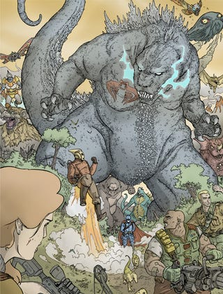 Illustration for article titled And now, G.I. Joe and the Rocketeer versus Godzilla and Cobra