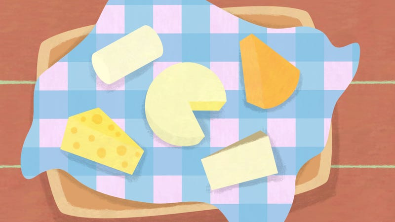 Illustration for article titled Creating a muenster: The 5 cheeses you need for a perfect picnic basket