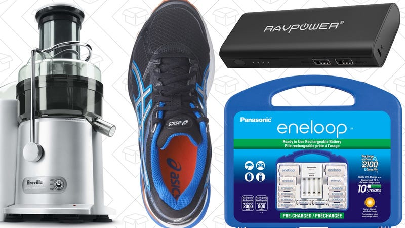 Illustration for article titled Today's Best Deals: Asics Running Shoes, Eneloop Power Pack, Rice Cooker