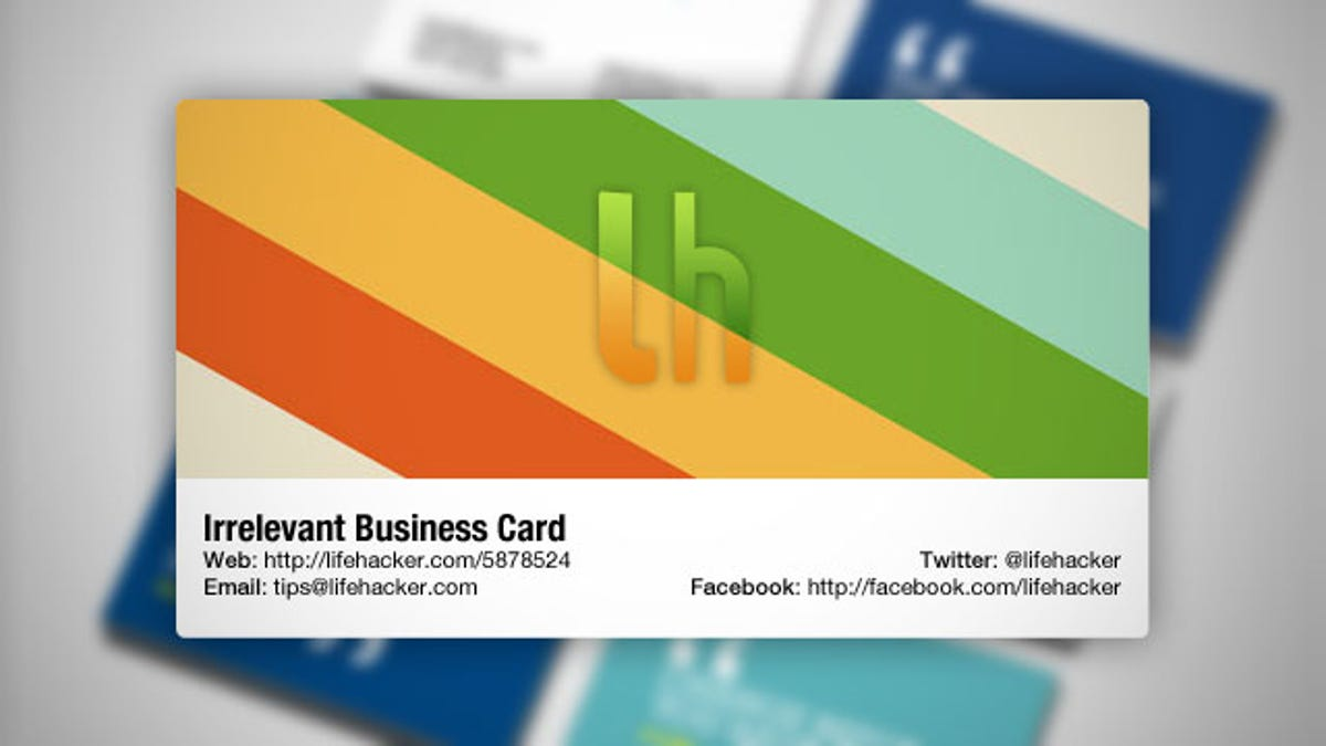 Is the Business Card Irrelevant?