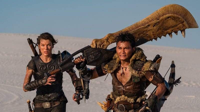 Milla Jovovich as Natalie Artemis and Tony Jaa as the Hunter.