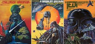 Illustration for article titled El increíble detalle de algunos de los carteles más raros de Star Wars