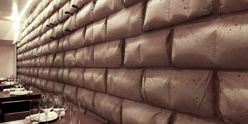 Illustration for article titled The Concrete Blocks at This Bakery Are Made From Empty Sacks of Flour