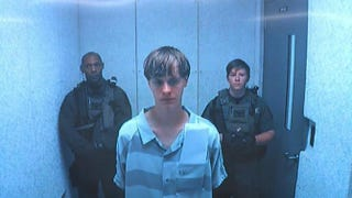 Dylann Storm Roof appears on video feed in front of a magistrate judge June 19, 2015.ABC screenshot