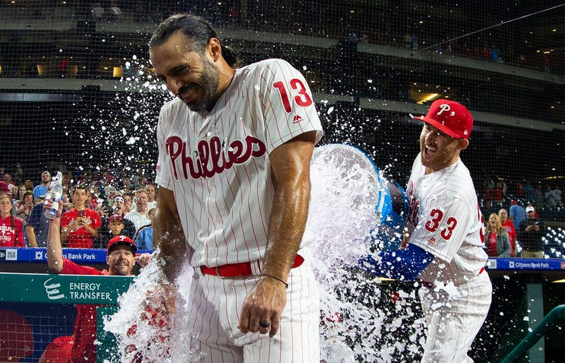 Brad Miller pours cold water all over the Phillies walkoff win.