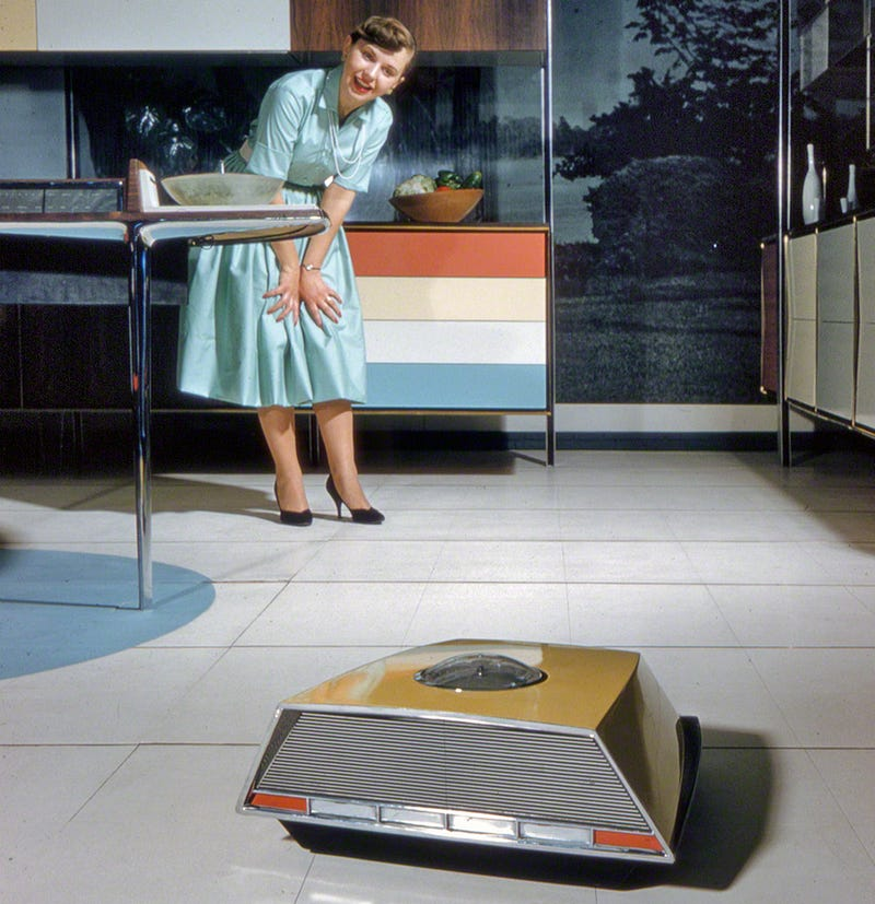 "Kitchen Of The Future: The 1950s ""Miracle Kitchen"" Of The Future Had Its Own Roomba"