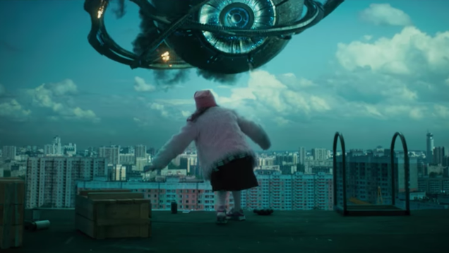 some everyday people fight and friend aliens in the trailer for the russian film attraction