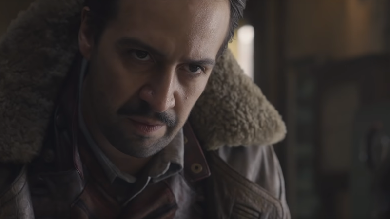 Lin-Manuel Miranda as adventurer Lee Scoresby.