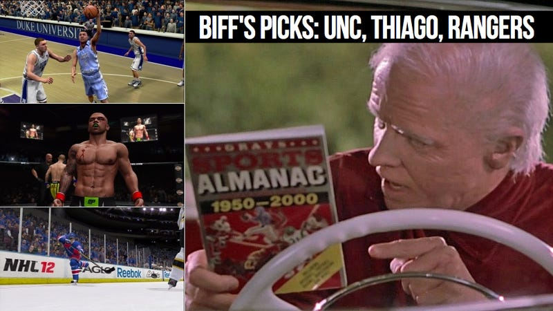 Illustration for article titled Biff Tannen Delivers the Stone Cold Sure Things in Sports