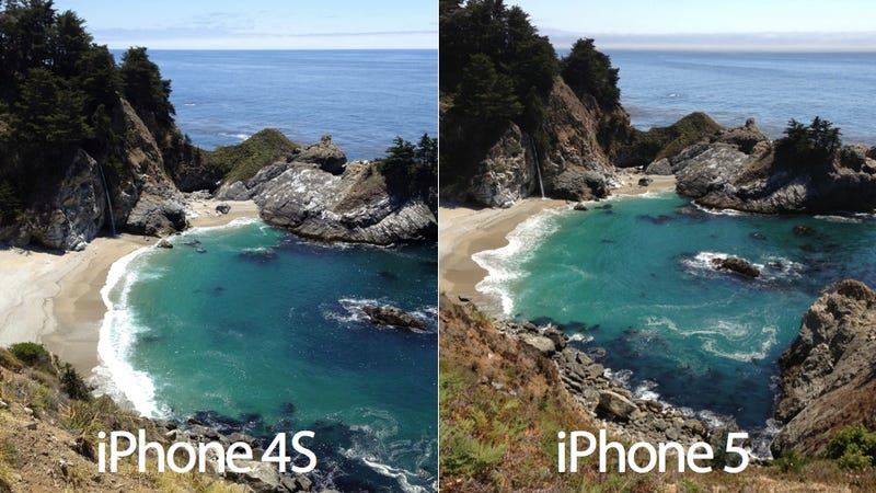 Illustration for article titled Here's a Side-By-Side Comparison of a Picture Taken with the iPhone 5 and the iPhone 4S