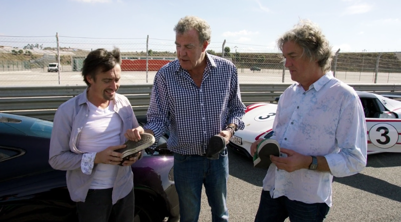 Screenshot from The Grand Tour. Hybrids in the background.