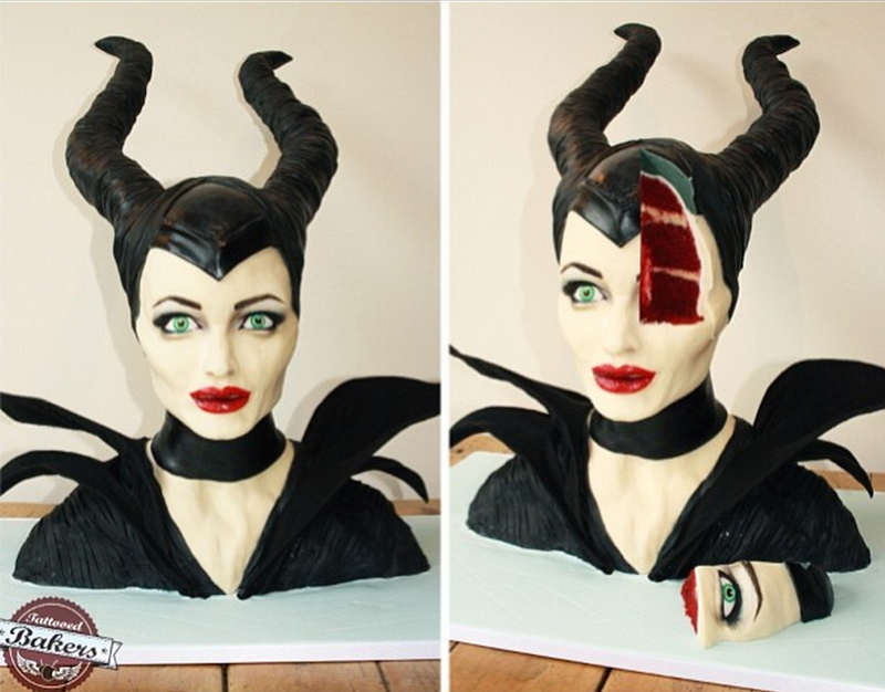 Illustration for article titled Maleficent Cake is Crazy Realistic, Deeply Unsettling, Delicious