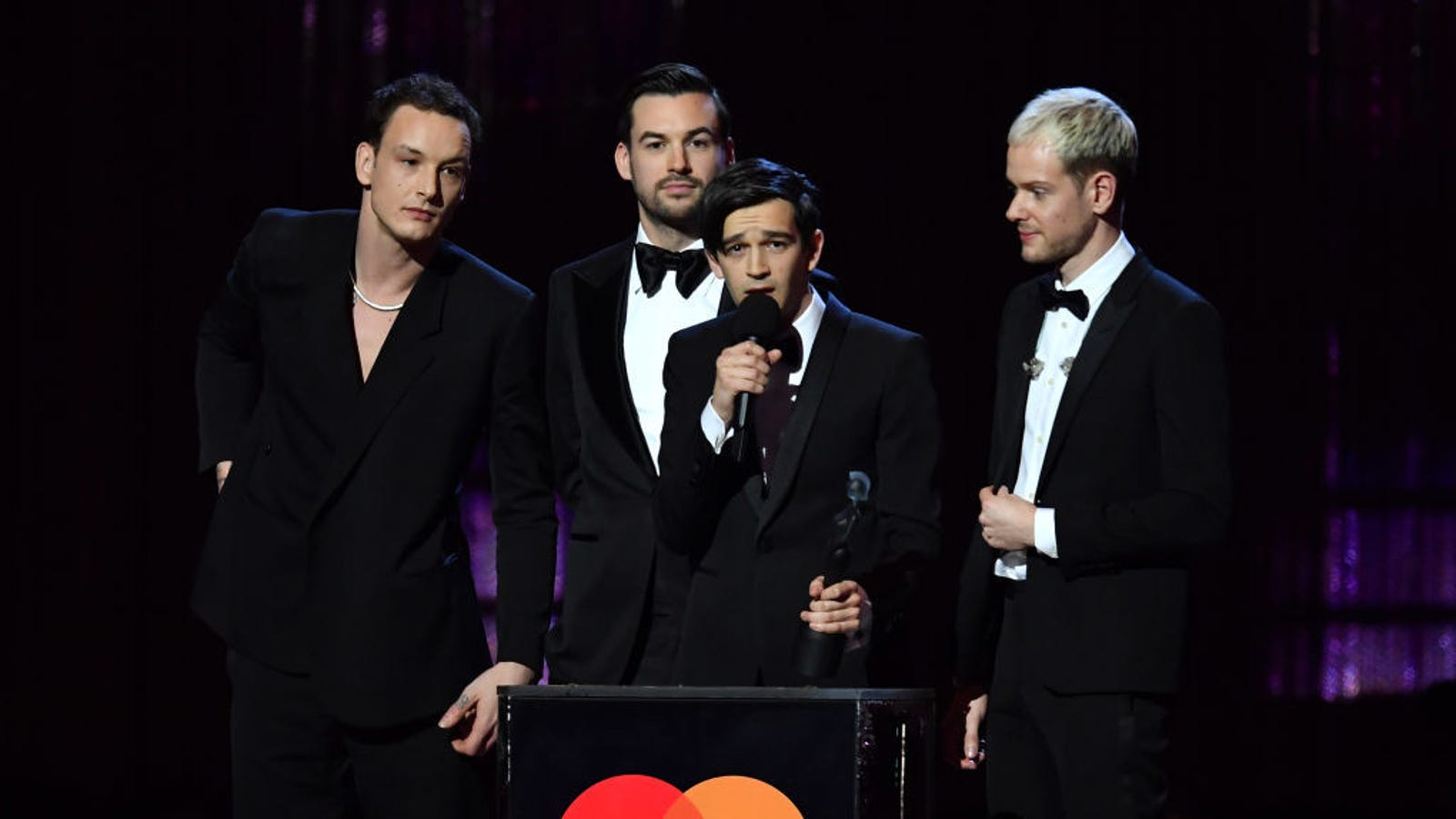 The 1975 call out music industry sexism in BRIT Awards acceptance speech