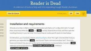 Reader Is Dead Pulls Out All the Google Reader Data that