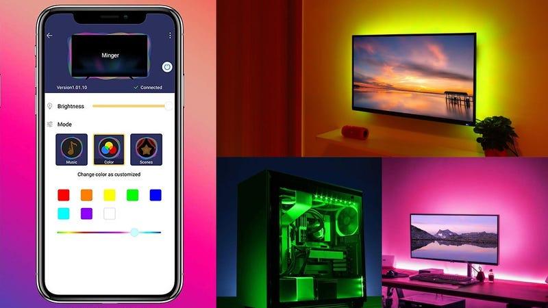 Minger App and Music-Controlled Strip Light | $18 | Amazon | Promo code R8NNTV6U