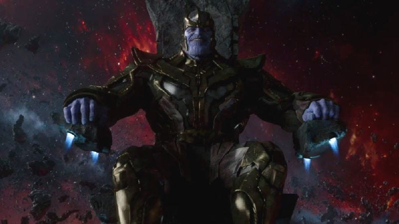 Josh Brolin as Thanos in Guardians Of The Galaxy