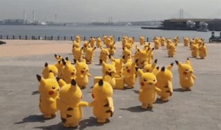 A Flock Of Pikachu Is What Heaven Looks Like