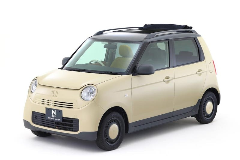 Illustration for article titled Honda N-One 'Natural' Concept Is A Funky Kei Ecobox With Wooden Interior
