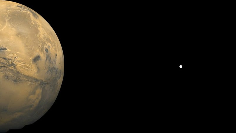 Distance from Mars to Phobos (Image: Public domain/Ryan F Mandelbaum via Wikimedia Commons)