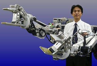 Illustration for article titled Power Loader Exoskeleton Gives Superhuman Strength