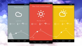 Illustration for article titled Nice Weather Is a Free, Minimalist Weather App for Android