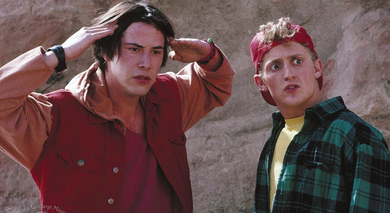 Bill and Ted are facing more than just the music in the new film.