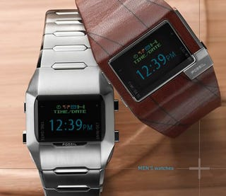 Illustration for article titled Fossil OLED Watches Tell Time, Impersonate Better Gadgets