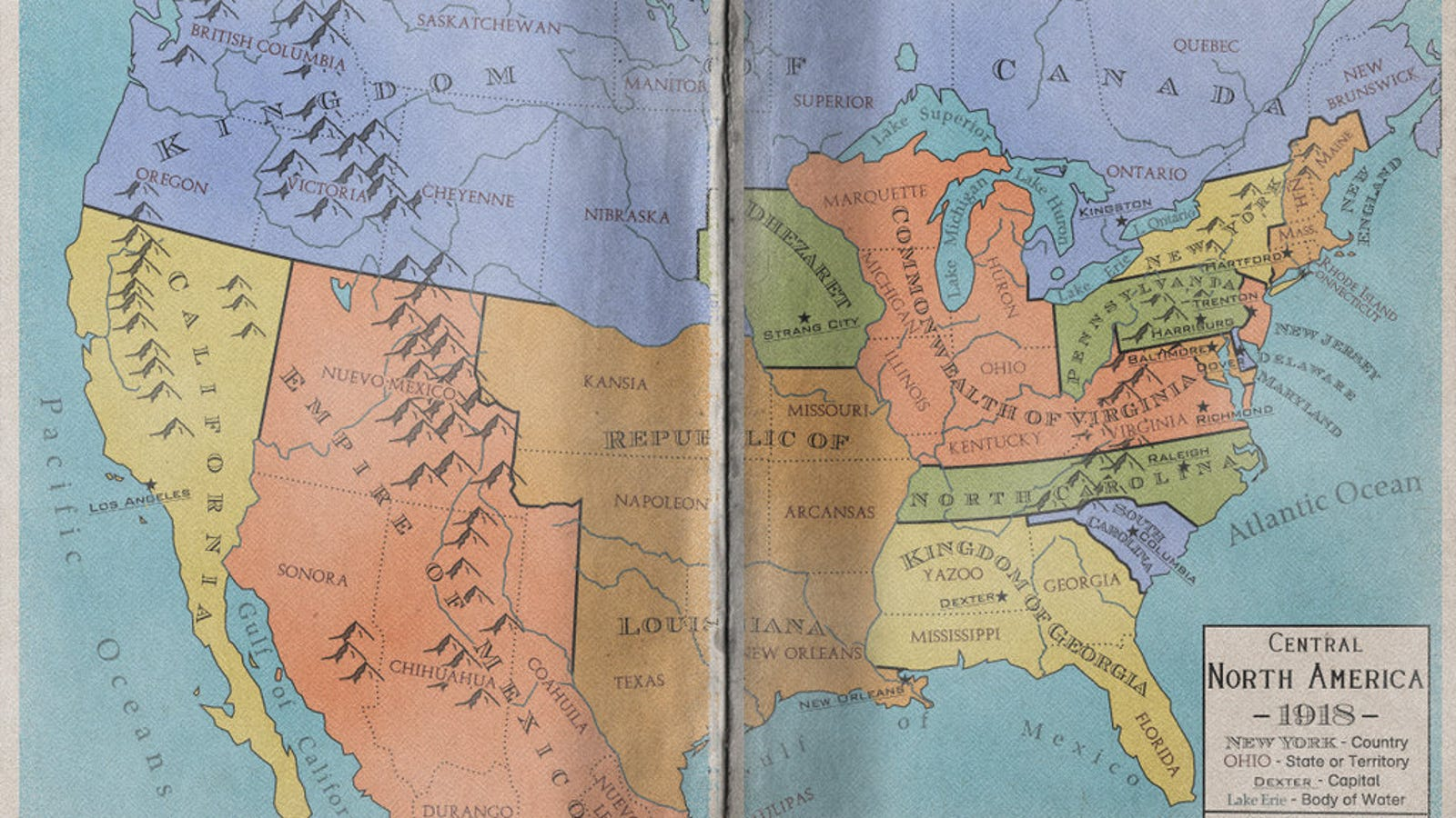 Alternate United States Map.Maps Of An Alternate North America That Never Became The United States