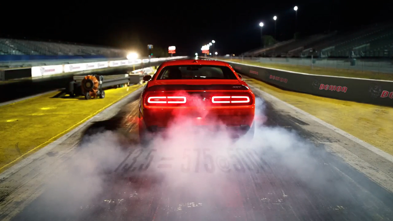 Illustration for article titled The Dodge Challenger SRT Demon Has A Suspension Built For 'Absolute Domination' In Drag Races