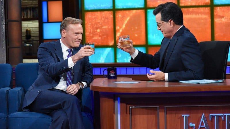 John Dickerson, Stephen Colbert (Photo: Scott Kowalchyk/CBS)