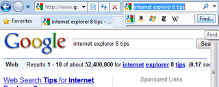 Illustration for article titled The Surprising Search Tools in Internet Explorer 8