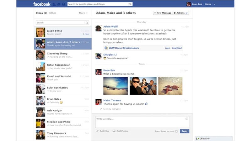 Illustration for article titled Facebook Messages Just Got Way Easier to Use