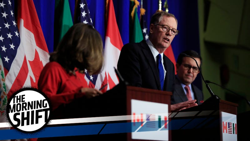 Trade representatives from Canada, the United States and Mexico meeting last week to discuss NAFTA. Photo credit: Manuel Balce Ceneta/AP Images